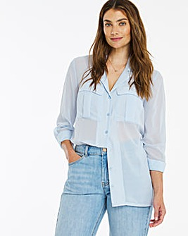 Sheer PJ Utility Shirt