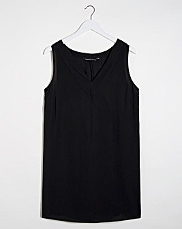 Black Crinkle Side Split Tunic