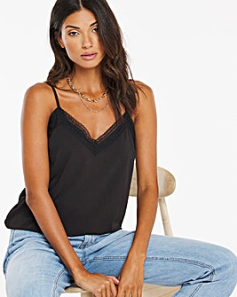 Black Lace Trim Cami