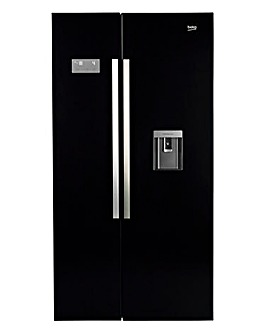 Beko Freestanding American Style Fridge Freezer Black ASD241B