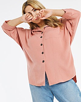 Baked Rose Drop Shoulder Shirt