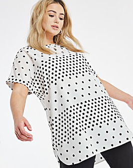 Printed Longline Boxy Top