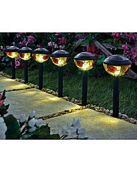 Tiffany Solar Lights Pack of 6