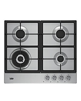 Beko Integrated 60cm Gas Hob Stainless Steel HIAW64225SX