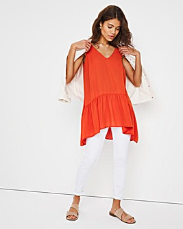 Rust Smock Sleeveless Tunic