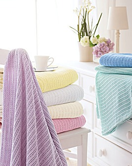 Pure Cotton Blankets Pack of 2
