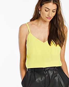 Winter Lime Woven Strappy Cami
