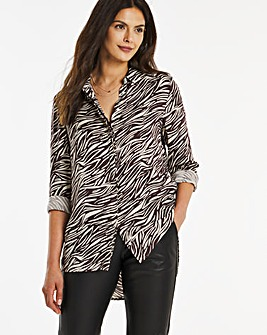 Dipped Back Viscose Shirt