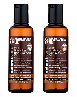 Macadamia Ultra Hair Treatment Oil Duo