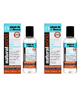 Argan Oil Hair Treatment Oil Duo