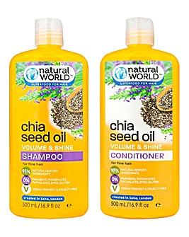 Chia Seed Shampoo & Conditioner Set