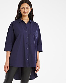 Navy Oversized Shirt