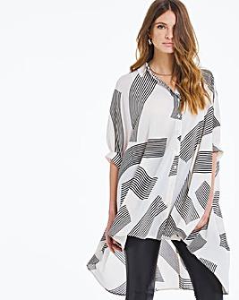 Oversized Zebra Blouse