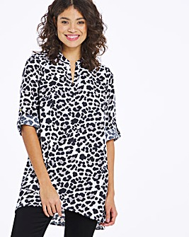 Soft Animal Print Cross Over Tunic