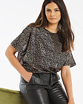 Foil Print Relaxed Fit Blouse