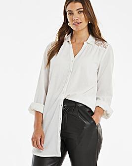 Ivory Lace Oversized Shirt