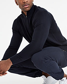 Navy 1/4 Zip Neck Jumper