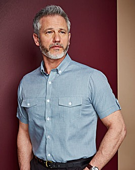 Premier Man Short Sleeve Green Stripe Shirt