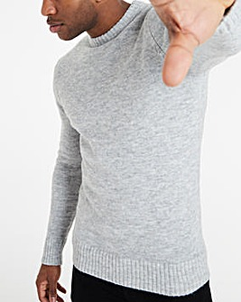 Grey Fluffy Recycled Knit Jumper