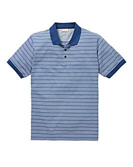 WILLIAMS & BROWN Short Sleeve Stripe Polo Shirt Longer