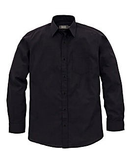 W&B London Black Long Sleeve Formal Shirt Regular