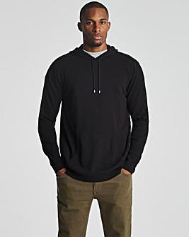 Black Lightweight Knitted Hoody