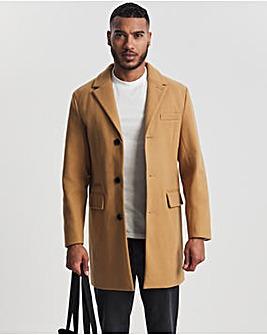 Camel Faux Wool Overcoat
