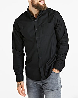 Black Long Sleeve Oxford Shirt Regular