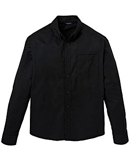 Black Long Sleeve Oxford Shirt Long