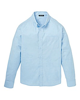 Blue Long Sleeve Oxford Shirt Long