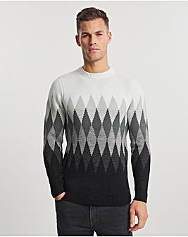 Charcoal Chevron Crew Neck Sweater