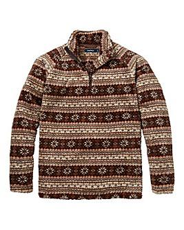 Southbay Unisex Zip Neck Printed Fleece