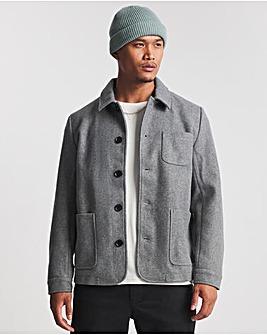 Grey Faux Wool Shacket