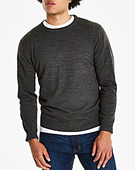 Charcoal Crew Neck Jumper