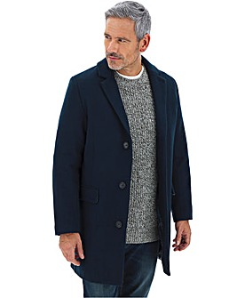 Teal Wool Rich Overcoat