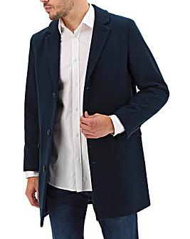 Teal Wool Rich Overcoat