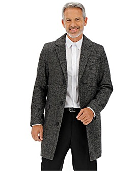 Charcoal Wool Rich Overcoat
