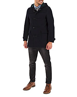 Navy Duffle Wool Rich Coat