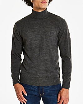 Capsule Charcoal Roll Neck Jumper