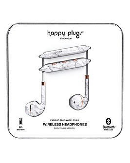 Happy Plugs Wireless II - White Marble