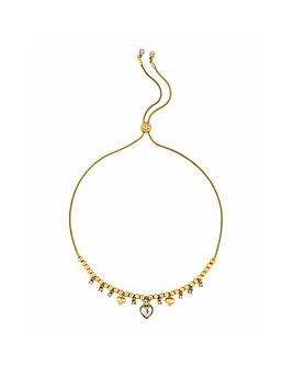 Lipsy Heart Charm Toggle Necklace