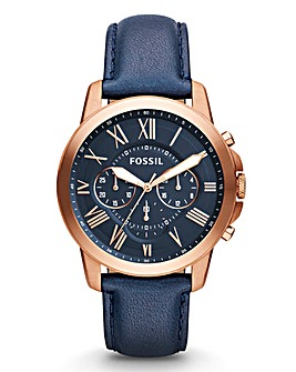 Fossil Gents Blue Chronograph Watch