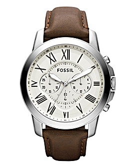 Fossil Gents White Chronograph Watch