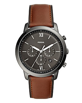 Fossil Gents Black Chronograph Watch