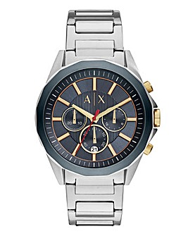 Armani Exchange Gents Silver Tone Watch