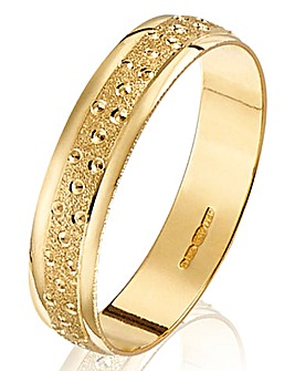 Champagne Bubbles Ladies Wedding Ring- 4mm