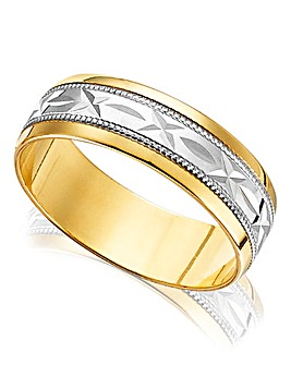 9 Carat Yellow Gold 'Sealed with a Kiss' Gents Wedding Band
