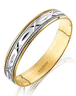 9 Carat Yellow Gold 'Sealed with a Kiss' Ladies Wedding Band