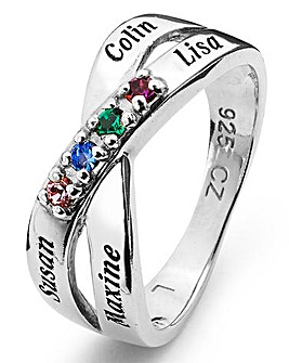 Sterling Silver Birthstone Ring