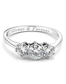 1 Carat Personalised Moissanite Ring